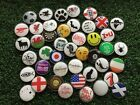 METAL GOLF BALL MARKER NOVELTY FUN GOLF LOGO CHOOSE FROM 50 UNIQUE DESIGNS WOW!