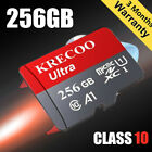 Micro Memory Card 128GB 256GB 100MB/S Class10 4K Fast Flash TF Card with Adapter