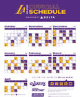 Los Angeles Lakers NBA Basketball Schedule 2019 Poster on eBay