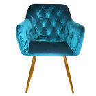 VELVET DINING CHAIRS SIX COLOURS RESTAURANT SEATING BRASS LEGS KITCHEN CHAIR