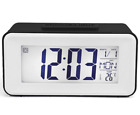 Digital Alarm Clock Large LED Snooze Backlight Calendar Thermometer Temperature