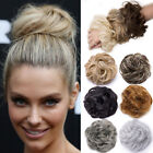 natural messy hair scrunchies updo bun curly hair extensions onepiece chignon au