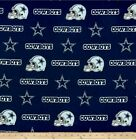 NFL Cotton Broadcloth Dallas Cowboys Blue Fabric By The Piece $7.99 USD on eBay