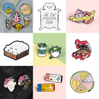 Pin Brooches Backpack Badges Meow Cat Hard enamel lapel Hat Gift Bag Goth Jeans image