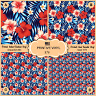 Anchor Adhesive Vinyl-  363 hibiscus palm leaves Pattern Printed HTV
