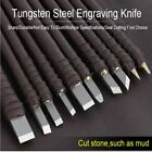 Tungsten Steel Stone Carving Knife Engraving Knife Sculpture Stone Chisel Wood