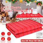 150x130cm Electric Heated Blanket Flannel Rapid Heating With 3 Gear Control 220V image