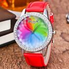 Watches Wrist Women's Student Watches Band US Quartz Leather Colorful Waterproof image