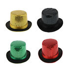 Women Men Magician Jazz Sequin Top Hat Steampunk Party Vintage Fedora Trilby