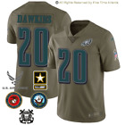 NEW Brian Dawkins Philadelphia Eagles Olive Salute to Service Military Jersey