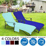 Pool Side Chaise Lounge Beach Pool Chair Cover Lawn Patio Garden with Pocket US