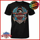 FREESHIP Harley Davidson B&S Eagle T-Shirt Black Men's Tee S-3XL Limited image