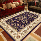 Traditional Medallion Area Rug Oriental Carpet Home Dining Room Velvet Floor Mat