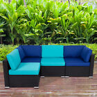 2-5 PCS Patio Sofa Set Outdoor Wicker Furniture Rattan Sectional Couch Set
