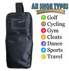 Golf Shoe Travel Bag Sport GYM Dance Bike with Zipper Bag Pouch Bag Black Blue