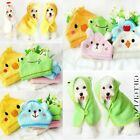 Product Cartoon Cat Shower Blankets Hooded Pajamas Pet Bath Towel Dog Bathrobe