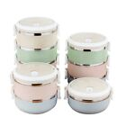1-4 Layers Stainless Steel Lunch Boxes Bento Thermal Insulated Food Container UK