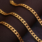 Ladies Men 18k Gold Filled Hexagon Curb Chain Figaro Necklace Chain Choker Charm