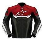 GP PRO MOTOGP MOTORBIKE RACING LEATHER JACKET MEN'S RED / BLACK / WHITE