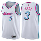 Dwyane Wade #3 Miami Heat Men's Nike White w/ pink Miami City Jersey