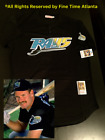 NEW Wade Boggs Tampa Bay Devil Rays Mens MN Black Teal Yellow Retro BP Jersey