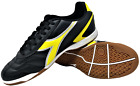 Diadora Men's Capitano ID Indoor Soccer Shoes (Black / Yellow)