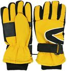 Kids Winter Warm Snow & Ski Gloves - Thermal Shell & Synthetic Leather Palm