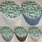 Canvas Brown & Teal Paisley Cover Compatible with Keurig Coffee Brewing Systems