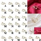 Exquisite Fashion 26 English Alphabet Style Ring Letter Fashion Copper Ring