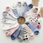 1Pair Women Invisible Non-slip Loafer Boat Ankle Low Cut Breathable Cotton Socks