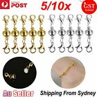 5/10x Supplies Magnetic Clasps Connector Hook Necklace Bracelet Connector Buckle