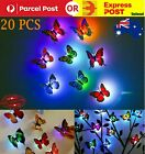 20x Color Changing 3d Butterfly Led Night Light Home Kids Room Wall Decor Light