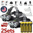 350000LM 5X T6 LED Rechargeable Headlamp Headlight Flashlight 18650 Head Torch .
