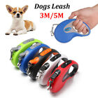 Retractable Extending Lead  Traction Rope Cord Tape Dog Leads Dogs Leash