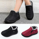 Womens Snow Ankle Boots Warm Winter Fur Lined Waterproof Casual Slip On Shoes