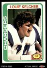 1978 Topps #360 Louie Kelcher Chargers SMU 6 - EX/MT $1.1 USD on eBay