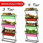 3/4 Tier Plant Metal Folding Plant Stand Indoor Outdoor Garden Plant Good W1W9