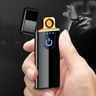 cigarette lighters touch windproof induction charging usb electronic ultra thin