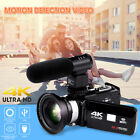 4K WiFi Ultra HD 1080P 3'' Digital Video Camera Camcorder DV  Lens  Microphone
