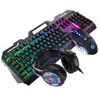 Gaming Keyboard Mouse Set Rainbow LED Wired USB For PC Laptop   One 360