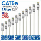 CAT5e Ethernet Cable Lan Network CAT5 RJ45 Internet White Router Patch Wire LOT