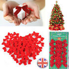 CHRISTMAS+TREE+BOWS+Glitter+Bow+Baubles+Xmas+Party+Garden+Ornament+Gift+Decor+UK