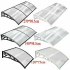 2SIZES DOOR CANOPY AWNING SHELTER ROOF FRONT BACK PORCH OUTDOOR SHADE PATIO ROOF