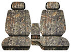 Car seat covers camo wetland fits Toyota Tacoma 2001-2004 Front bench 60-40+2HR
