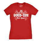 Womens Ive Been Goodish This Year Cute Funny Present Christmas Tee for Ladies