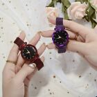 Women Ladies Starry Sky Masonry Watch Magnet Strap Buckle Stainless Watch Gift image