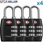 4x TSA Lock Travel Luggage Suitcase 3 Digit Combination Reset Padlock Approved