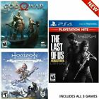 Ps4 Games God Of War/horizon Zero Dawn Complete/the Last Of Us. Playsstation 4