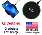 Qi Wireless Charger 10W Fast Charging Mat Pad For iPhone 11 8 X Samsung S10 +