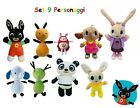 BING PELUCHE SET 9 PERSONAGGI SULA COCO PANDO CHARLIE FLOP HOPPITY AMMA PADGET
